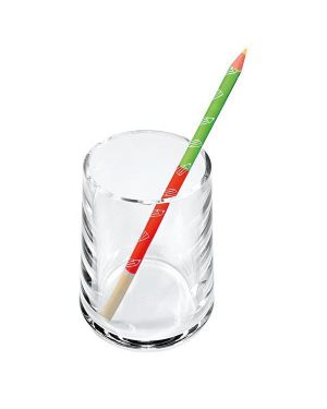 Portapenne a bicchiere acrilico trasparente 1686 lebez 1686 8007509016862 1686
