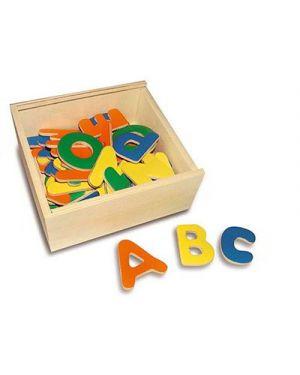Lettere magnetiche pz.52 scatola legno 15x14x6 CWR 6955 8004957069556 6955