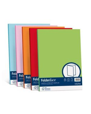 50 cartelline semplici luce 200gr 25x34cm azzurro favini A50G664 8007057262063 A50G664_32656 by Favini