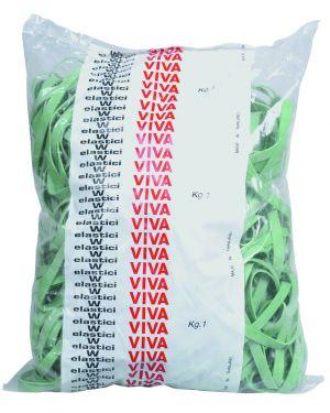 Elastico fettuccia verde Ø100 t5 sacco da 1kg F5X100 8014035000579 F5X100_34152 by Viva