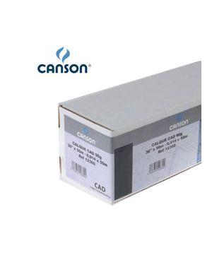 """Carta inkjet plotter 610mm(24"""") x 50mt 90gr hicolor opaca canson 200872101 3148958721015 200872101_34569 by Esselte"""