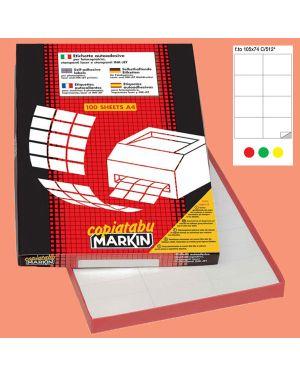 Etichetta adesiva c - 512 rosso 100fg a4 105x74mm (8et - fg) markin 210C512RO 8007047022554 210C512RO_36899