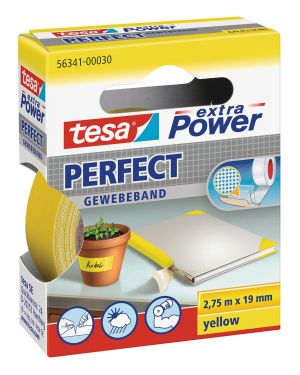Nastro adesivo telato 19mmx2,7mt giallo 56341 xp perfect 56341-00030-03 4042448044051 56341-00030-03_37927 by Esselte