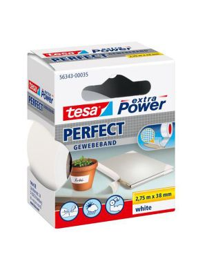 Nastro adesivo telato 38mmx2,7mt bianco 56343 xp perfect 56343-0003503 4042448044174 56343-0003503_37931 by Esselte