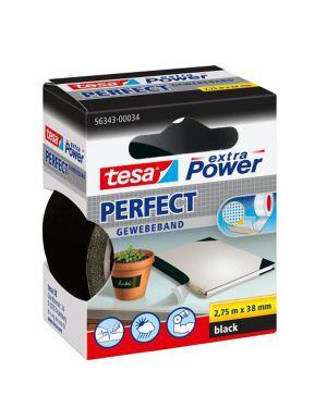 Nastro adesivo telato 38mmx2,7mt nero 56343 xp perfect 56343-00034-03 4042448044150 56343-00034-03_37932 by Tesa