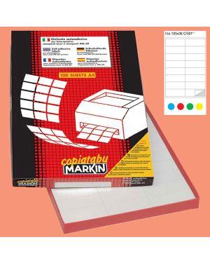 Etichetta adesiva c/501 rosso 100fg a4 105x36mm (16et/fg) markin 210C501RO_38034 by Esselte
