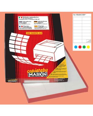 Etichetta adesiva c - 501 rosso 100fg a4 105x36mm (16et - fg) markin 210C501RO 8007047021700 210C501RO_38034