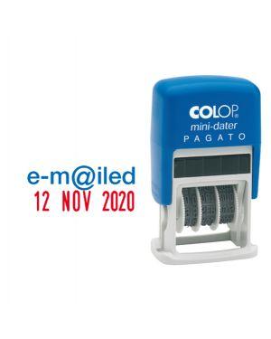 Timbro mini s160 - l3 datario + registrato 4mm autoinchiostrante colop S160/L3 9004362302070 S160/L3_38122