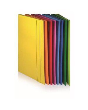 Cartellina 3 lembi con elastico 35x25 dorso 1 colori assortiti BREFIOCART 221309 8014819391053 221309