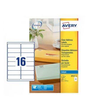 Poliestere adesivo j8562 trasparente 25fg a4 99,1x34mm (16et - fg) inkjet avery J8562-25 5014702011436 J8562-25_45204 by Avery