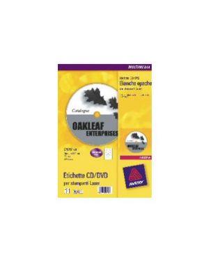 Etichette laser bianche l7676-100fg (2et/fg Ø117) x cd/dvd full-face avery L7676-100_45219 by Avery