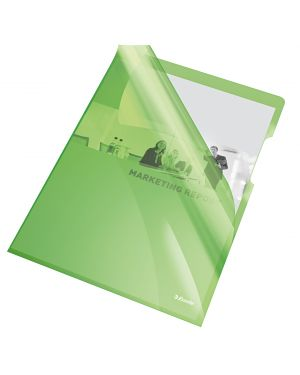 25 cartelline a l 21x29,7 pvc liscia cristallo verde esselte 55436 5902812554366 55436_45800