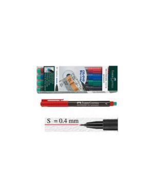 Busta 4 colori pennarello multimark 0,4mm superfine faber-castell 152304_45928
