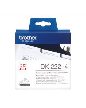 Rotolo etichetta continua 12mmx30,48mt nero - bianco DK-22214 4977766628525 DK-22214