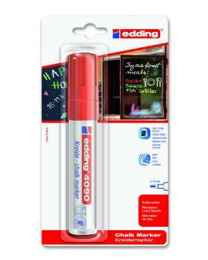 Marcatore edding 4090 punta scalpello gesso liquido rosso 4090-ROSSO 4004764787739 4090-ROSSO_47576 by Edding