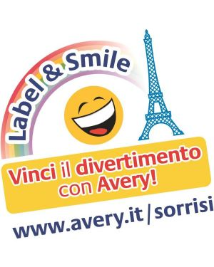 Poliestere adesivo l6008 argento 20fg a4 24,5x10mm (189et - fg) laser avery L6008-20 4004182144251 L6008-20_47697 by Avery