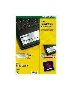 Poliestere adesivo l6012 argento 20fg a4 96x50,8mm (10et - fg) laser avery L6012-20 4004182144282 L6012-20_47699