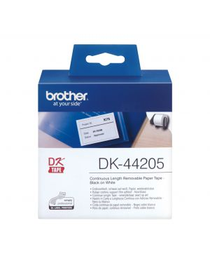 Nastro adesivo in carta 62mm x 30,48mt nero - bianco DK-44205 4977766635127 DK-44205