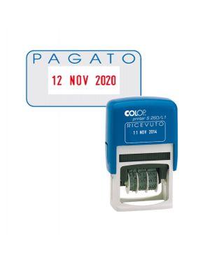 Timbro s260 - l2 datario + pagato 4mm autoinchiostrante colop S260L2.BLS 9004362301745 S260L2.BLS_48012