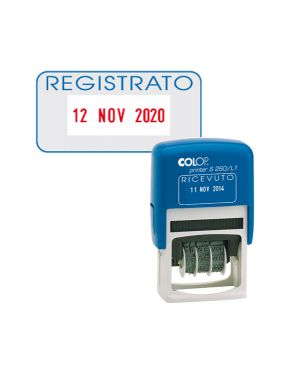 Timbro s260 - l3 datario + registrato 4mm autoinchiostrante colop S260L3.BLS 9004362301769 S260L3.BLS_48013 by Colop