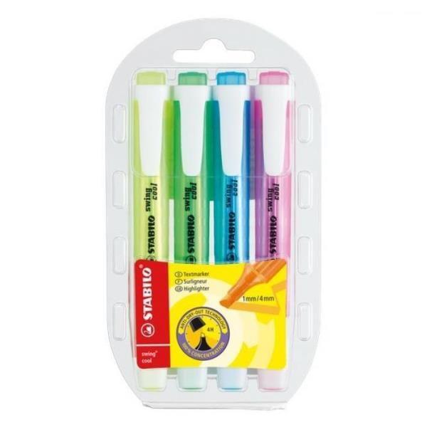 Stabilo Swing Cool Pastel Astuccio con 6 Evidenziatori Colori Assortiti