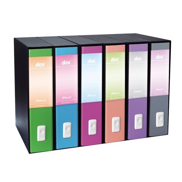 Registratore new dox 1 grigio dorso 8cm f.to commerciale esselte D15107 8004389087203 D15107_48855 by Dox