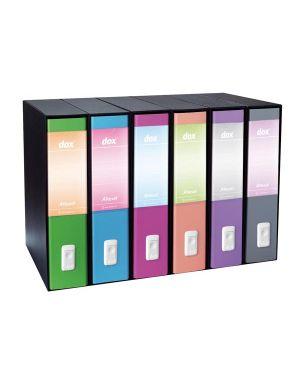 Registratore new dox 1 grigio dorso 8cm f.to commerciale rexel D15107 8004389087203 D15107_48855