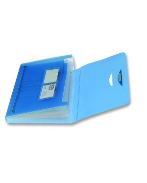 Cartellina 12 tasche blu 23x33cm swing fellowes 40330_49459