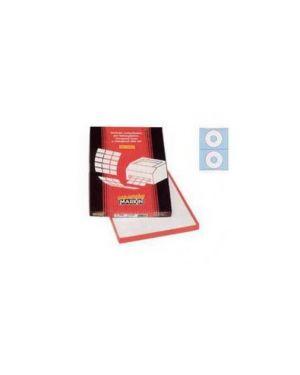 Etichetta adesiva a/462 bianca coprente 100fg (2 et.Xcd Ø117,5mm foro41) 210A462COP_49688