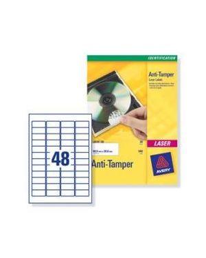 Poliestere adesivo l6113 bianco antim. 20fg a4 45,7x21,2mm (48et - fg) laser avery L6113-20 4004182144350 L6113-20_49699