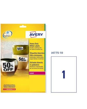 Etic. poliestere bianco 210x2979 Avery J4775-10 4004182247754 J4775-10_49703 by Avery