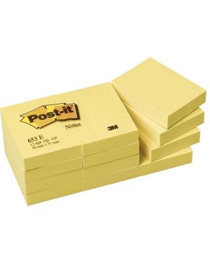 Blocco 100fg post-it® giallo canary™ 38x51mm 653 7100172745 32030A 7100172745