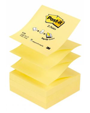Blocco 100fg post-it® z-notes r330 giallo canary™ 76x76mm 7100103164 32056 A 7100103164