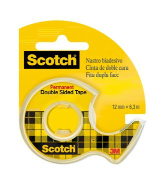 Nastro biadesivo scotch® 6,3mtx12mm 665-136d permanente s - liner in chiocciola 7100150066 51131598522 7100150066 by Scotch