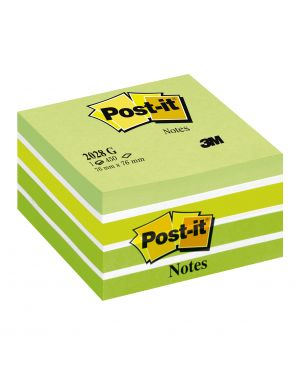 Blocco cubo 450foglietti post-it® 76x76mm 2028-g pastello verde 7100200375 4001895872808 7100200375 by Post-it