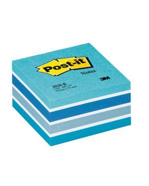 Blocco cubo 450foglietti post-it® 76x76mm 2028-b pastello blu 7100172385 4001895872792 7100172385
