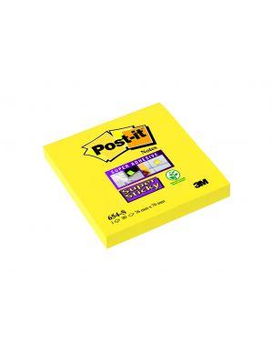 Blocco 90foglietti post-it® super sticky 654-s 76x76mm giallo oro 7100103161 4001895877124 7100103161