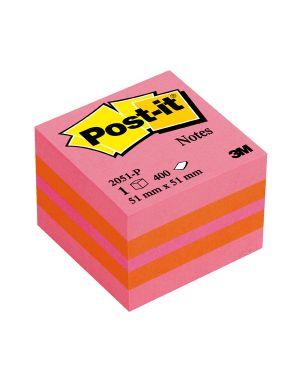 Blocco minicubo 400foglietti post-it® 51x51mm 2051-p rosa - arancio 7100172395 4001895853821 7100172395