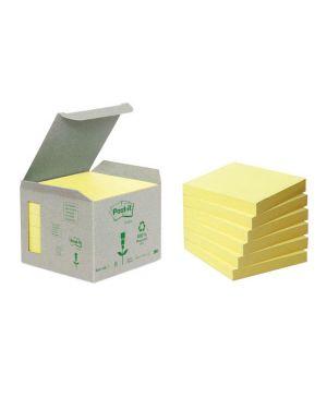 Blocco 100foglietti post-it® notes green 76x76mm 654-1b giallo 7100172252 64221 A 7100172252