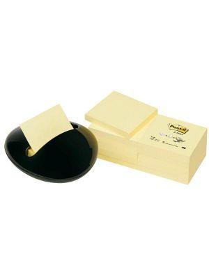 Dispenser stone nero+12 ricariche 100fg post-it® z-notes 76x76mm giallo canary 7100172409 4046719501885 7100172409