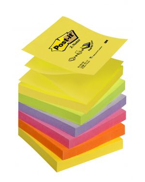 Blocco post-it® super sticky z-notes 76x76mm 100fg r330-nr neon 7100172322 67425 A 7100172322