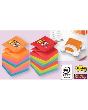 Blocco 90foglietti post-it® super sticky z-notes 76x76mm r330-6ss-rio d - j 7100147840 71239 A 7100147840