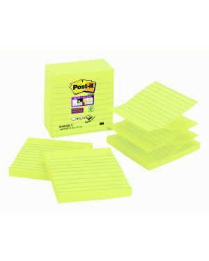 Ricarica 90foglietti post-it® super sticky 101x101mm righe r440-sscy giallo c 7100141924 51141998428 7100141924