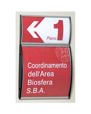 Segnaletica a parete 15x21cm profilo silver arkos 1431038 .50473 1431038_50473 by Studio T