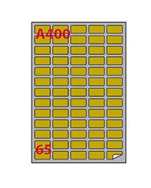 Etichetta adesiva a - 400 oro 100fg a4 laser 38,1x21,2mm (65et - fg) markin 220LGA400 8007047031389 220LGA400_50804 by Markin