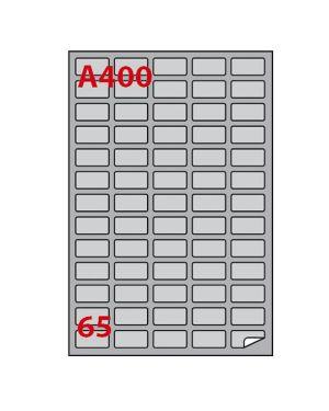 Etichetta adesiva a - 400 argento 100fg a4 laser 38,1x21,2mm (65et - fg) markin 220LSA400 8007047031471 220LSA400_50805