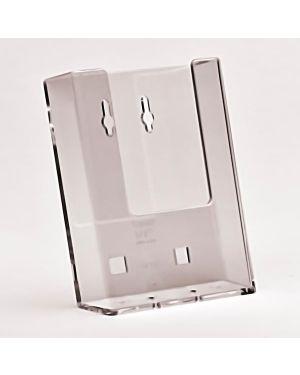 Porta depliant 1 - 3 a4 da parete trasparente W110-10 50845 AA W110-10_50845