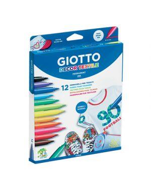 Astuccio 12 pennarelli per tessuto giotto decor textile 494900 8000825495106 494900_50870 by Giotto
