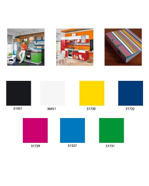 Rotolo carta adesiva dc-fix 45x15 azzurro lucido DC-FIX 2001994 4007386001634 2001994_51337