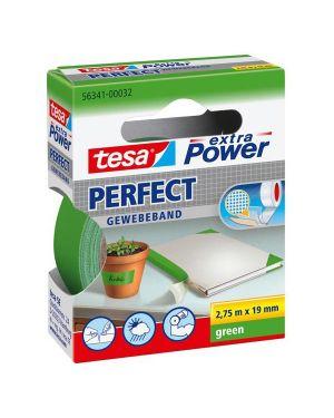 Nastro adesivo telato 19mmx2,7mt verde 56341 xp perfect 56341-00032-03 4042448044099 56341-00032-03_51406 by Tesa